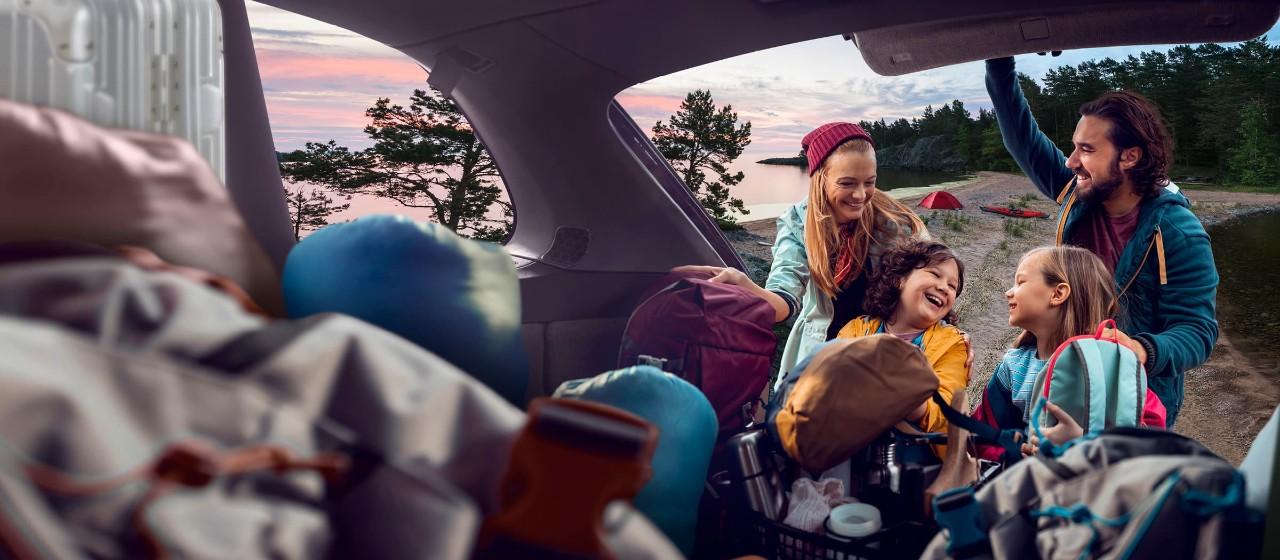 Famielie am Strand